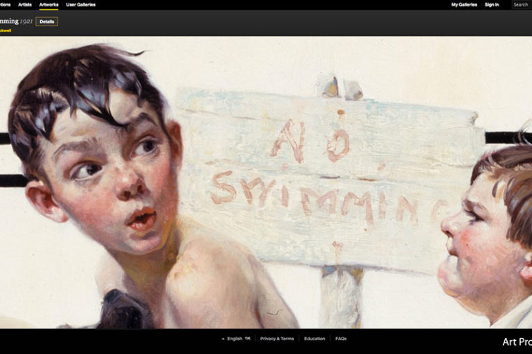 GoogleArt_Rockwell-no-swimming
