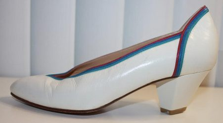 Maud FRIZON Spaceage PUMPS Women Vintage 1980s Space-Age Disco Shoes