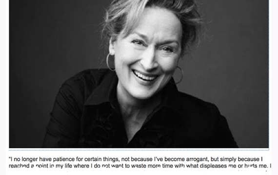 How The Internet Put A Powerful Quote In Meryl Streeps Mouth