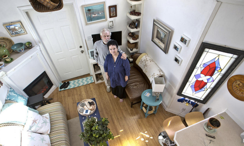 Karen and Tom Rogers tiny home