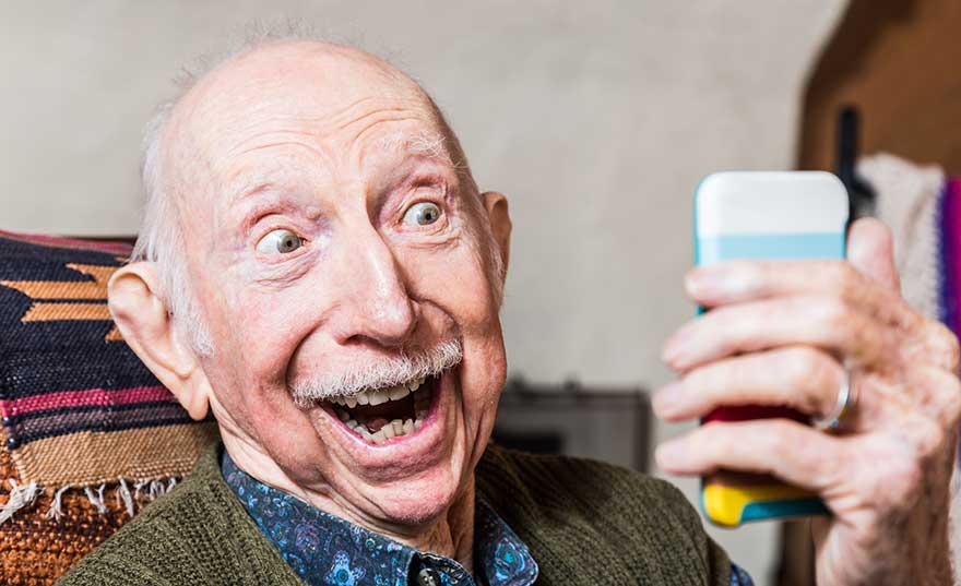 seniors-with-technology-stock-photography