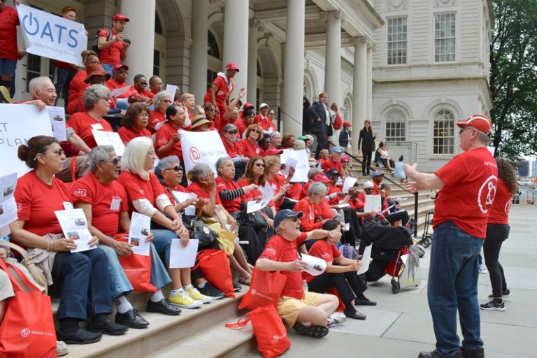 Senior Planet Rallies on New York City Hall