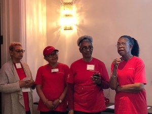 Senior Planet members (from left to right) Jenny, Wilma, Bobby, Wilma, and Shirley shared their stories at the Senior Tech Forum.