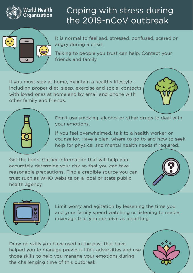 Tips for dealing with stress during the coronavirus outbreak